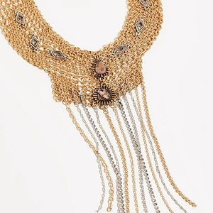 FREE PEOPLE AFTER DARK MESH CHOKER IN GOLD